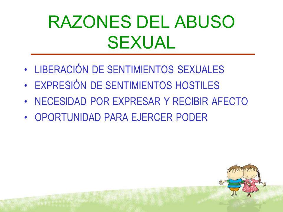 FACTORES ASOCIADOS Atracción Sexual Hacia el niño Sentimientos Sexuales Factores Culturales Factores Ambientales Factores Individuales Familiares Abuso Sexual