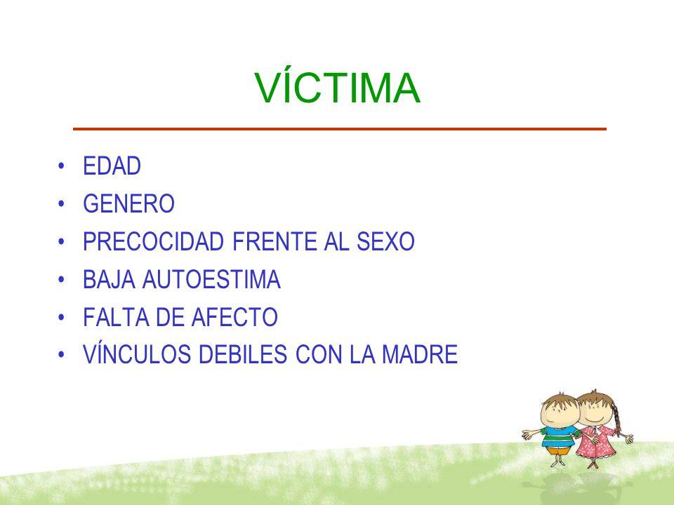 PERPETRADOR DEFICIT EN EL CONTROL DE LOS IMPULSOS BAJA AUTOESTIMA DEFICIT EN HABILIDADES SOCIALES VICTIMIZADO EN LA INFANCIA DISTORSIONES COGNOSCITIVAS