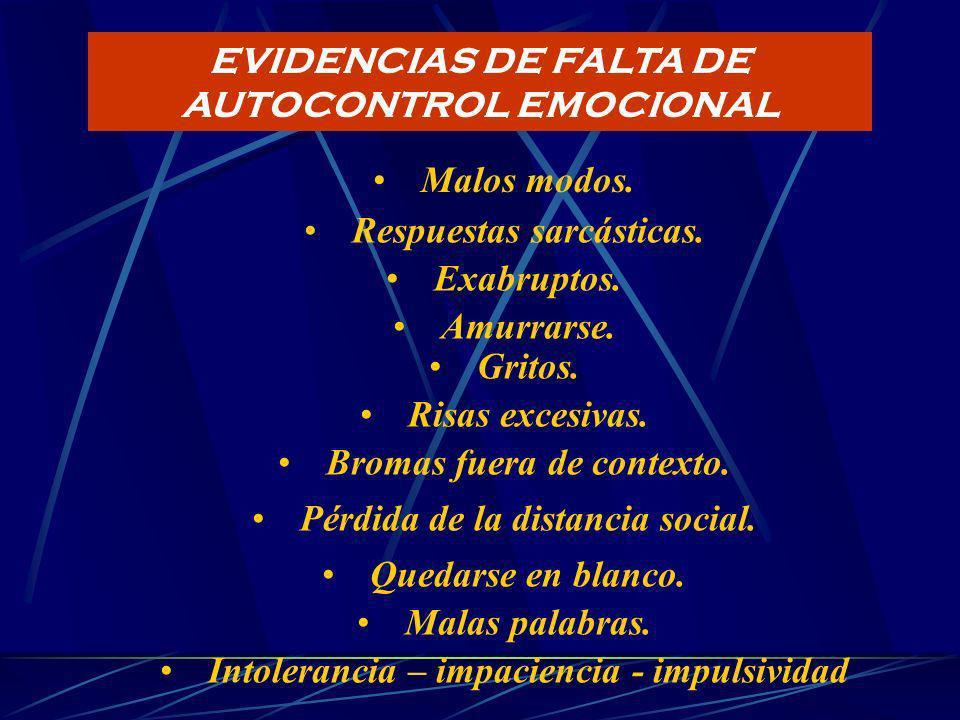 IMPULSIVIDAD Y FALTA DE CONTROL EMOCIONAL : IMPACTO SOBRE LA ATENCIÓN DE CLIENTES