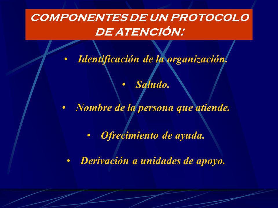 PROTOCOLOS DE ATENCIÓN