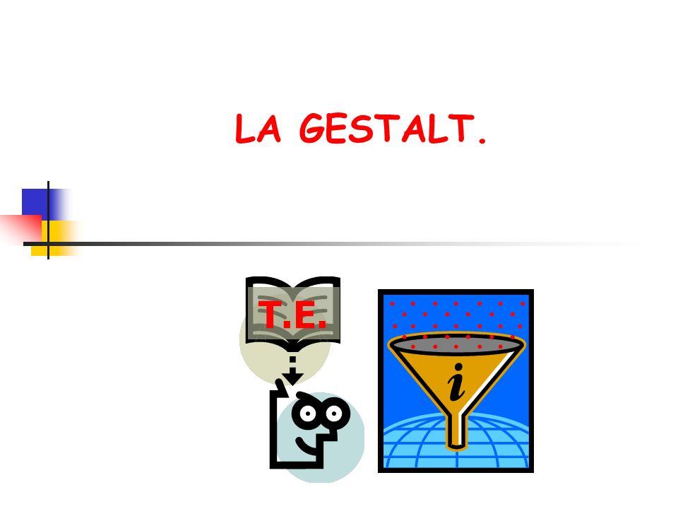 LA GESTALT. T.E.