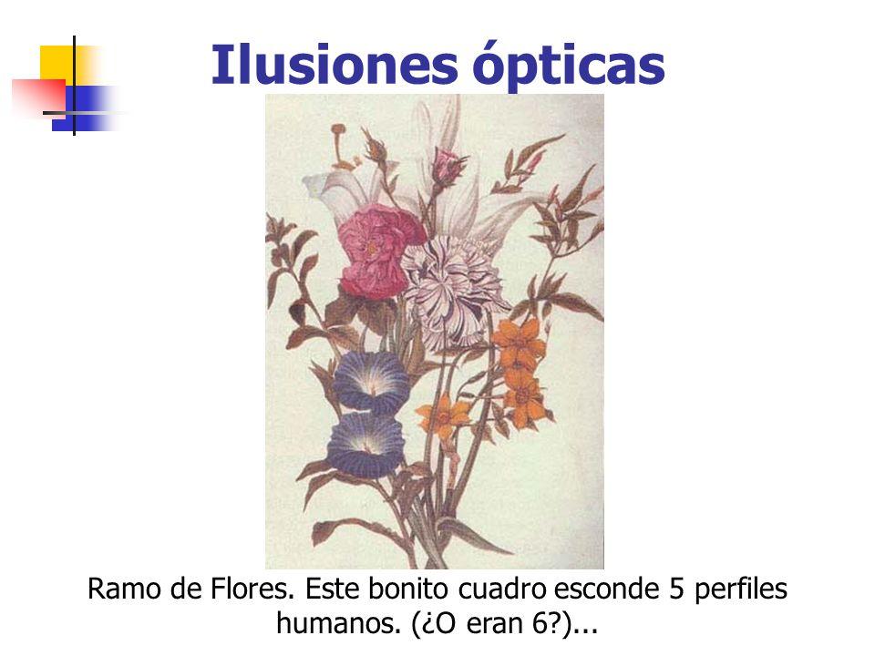 Ilusiones ópticas Ramo de Flores. Este bonito cuadro esconde 5 perfiles humanos. (¿O eran 6?)...