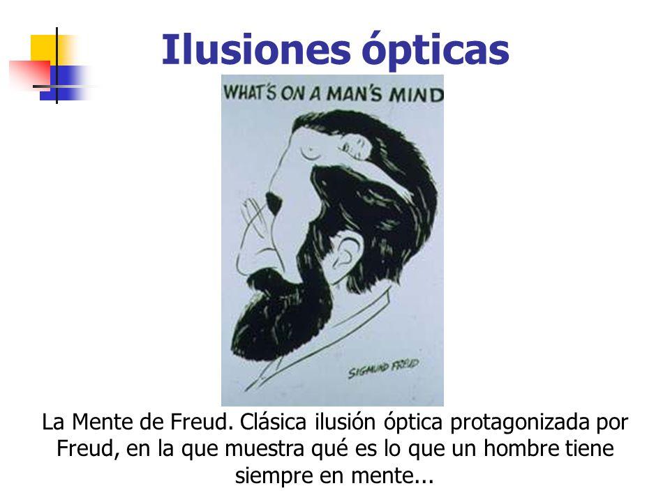 Ilusiones ópticas La Mente de Freud. Clásica ilusión óptica protagonizada por Freud, en la que muestra qué es lo que un hombre tiene siempre en mente.