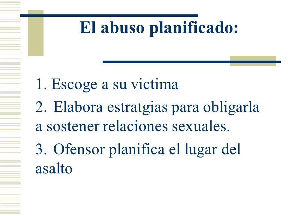 (continuacion ) Se puede dar de parte de persona extraña donde no hay relación alguna Violación que surge de un conocido Algunas violaciones son plani