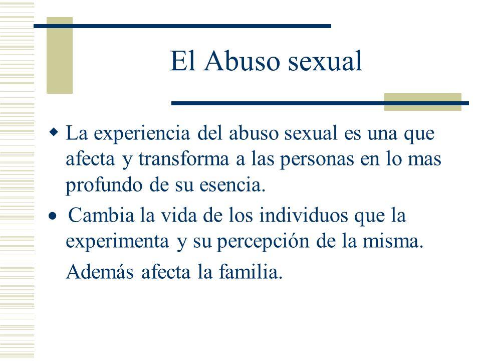 El ofensor Hay poca información sobre el ofensor sexual.