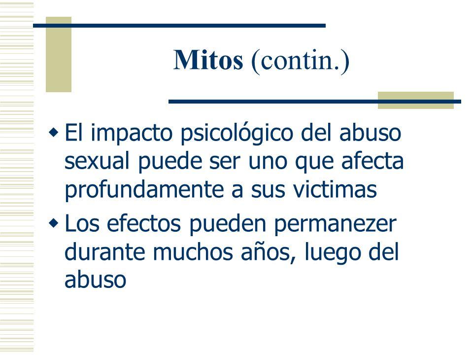 Mitos (contin.) Mito promovido mas bien por los hombres de que cuando la mujer dice que no, realmente es un si Que siempre surge mediante la fuerza fí