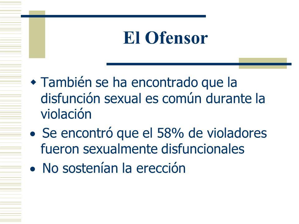 Estudios Realizados Estudios sugieren que: Los hombres no violadores ejercen controles internos que no ejercen los violadores Que los no violadores so
