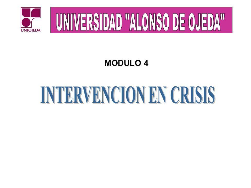 MODULO IV: INTERVENCIÓN EN CRISIS: Conceptos básicos y clasificación de emergencias Norma para la elaboración de planes de emergencias Evaluación de planes de emergencias.