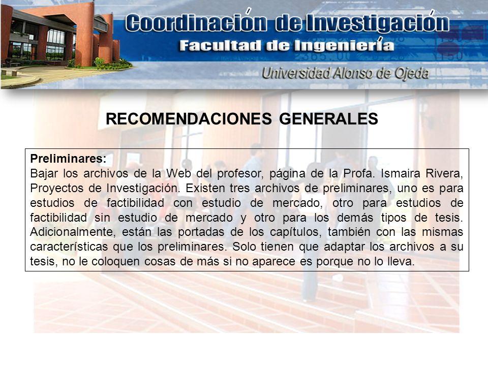 Preliminares: Bajar los archivos de la Web del profesor, página de la Profa. Ismaira Rivera, Proyectos de Investigación. Existen tres archivos de prel