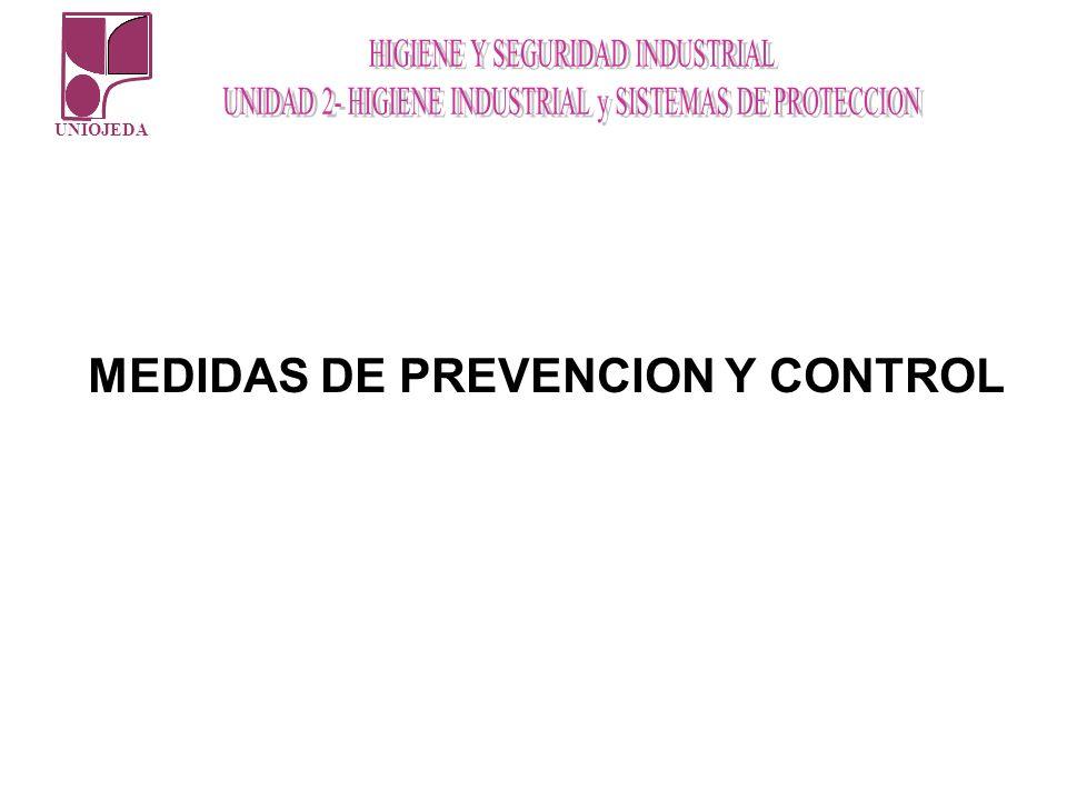UNIOJEDA MEDIDAS DE PREVENCION Y CONTROL
