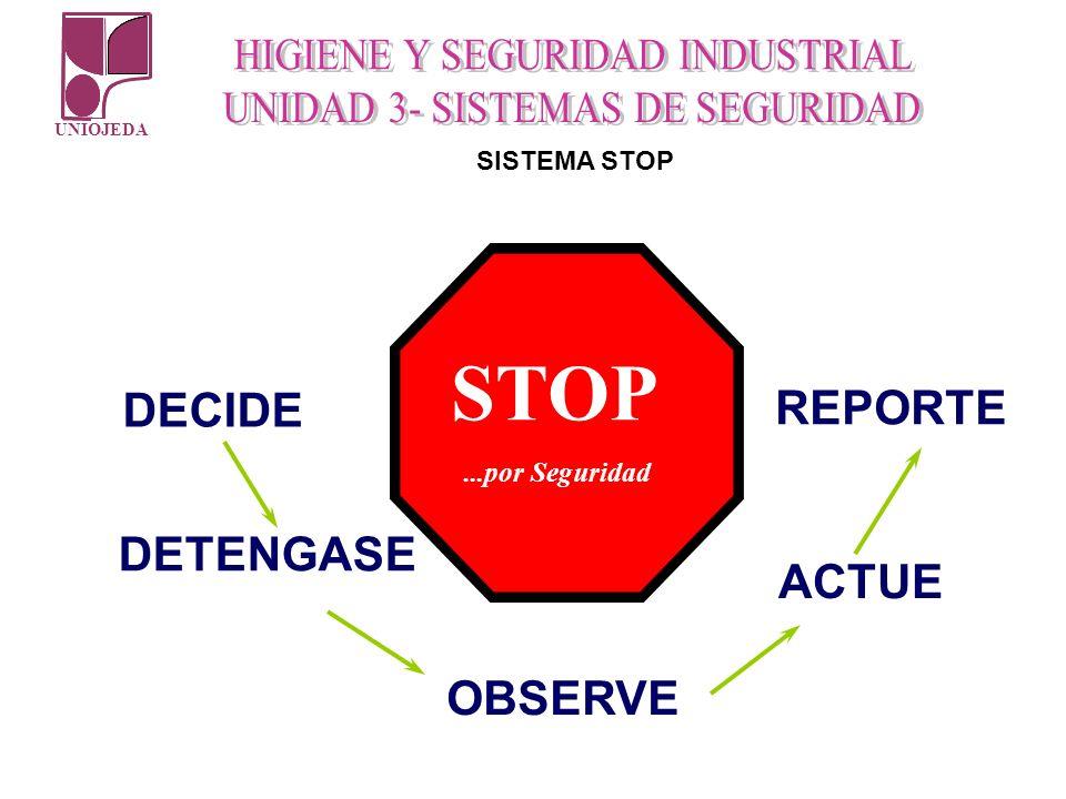 UNIOJEDA DECIDE DETENGASE OBSERVE ACTUE REPORTE STOP...por Seguridad SISTEMA STOP