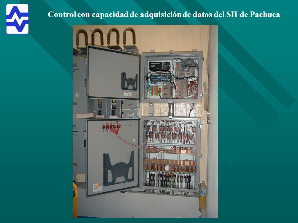 Control con capacidad de adquisición de datos del SH de Pachuca
