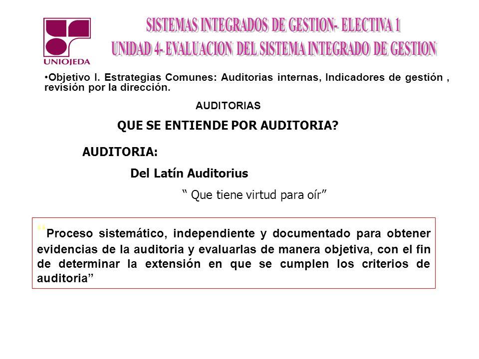 PLANIFICACION DE AUDITORIAS OBJETIVO Y ALCANCE.