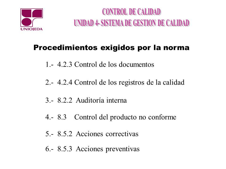 4.2.2 Manual de la CALIDAD La organización debe establecer y mantener un manual que incluya: El alcance del sistema y justificación de cualquier exclusión.