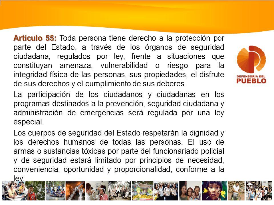 Artículo 51: Artículo 51: Toda persona tiene el derecho de representar o dirigir peticiones ante cualquier autoridad, funcionario público o funcionari