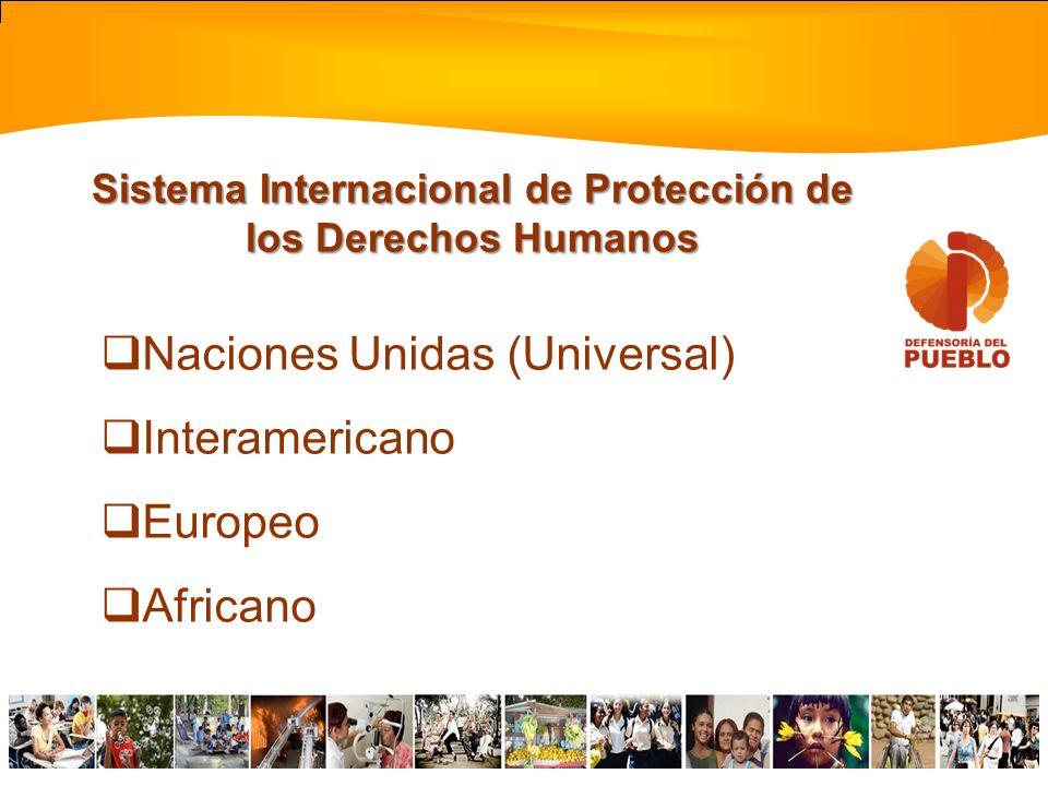 Declaración Universal de Derechos Humanos Pacto Internacional de Derechos Económicos, Sociales y Culturales Pacto Internacional de Derechos Civiles y