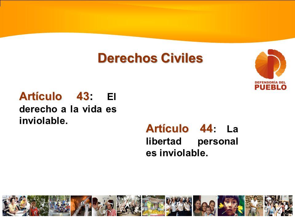 Constitución de la República Bolivariana de Venezuela Disposiciones Generales Derechos de la nacionalidad y la ciudadanía Derechos Civiles Derechos Po