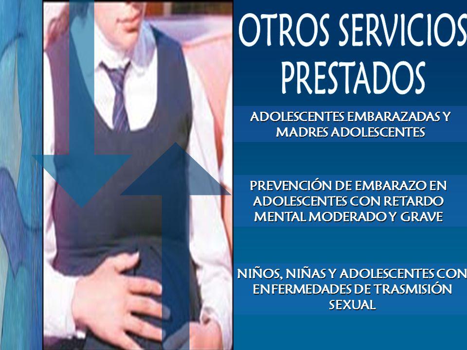 NIÑOS, NIÑAS Y ADOLESCENTES CON ENFERMEDADES DE TRASMISIÓN SEXUAL PREVENCIÓN DE EMBARAZO EN ADOLESCENTES CON RETARDO MENTAL MODERADO Y GRAVE ADOLESCEN