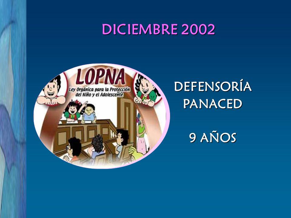 DEFENSORÍAPANACED 9 AÑOS DICIEMBRE 2002