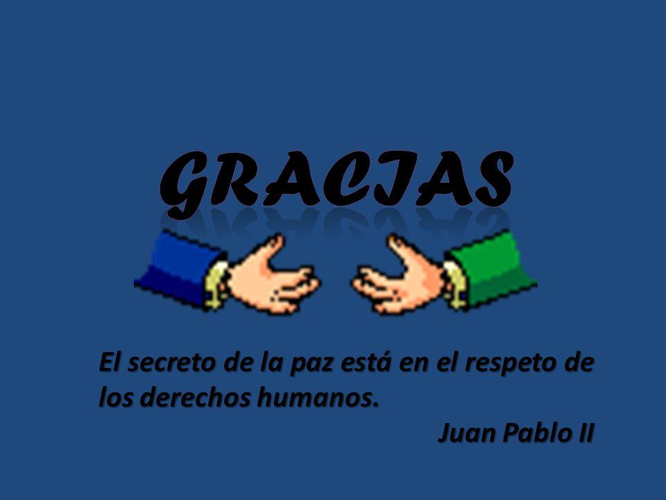 El secreto de la paz está en el respeto de los derechos humanos. Juan Pablo II