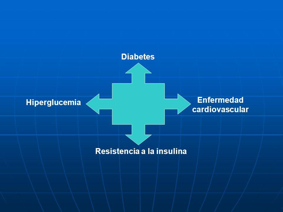 Hiperglucemia Enfermedad cardiovascular Resistencia a la insulina Diabetes