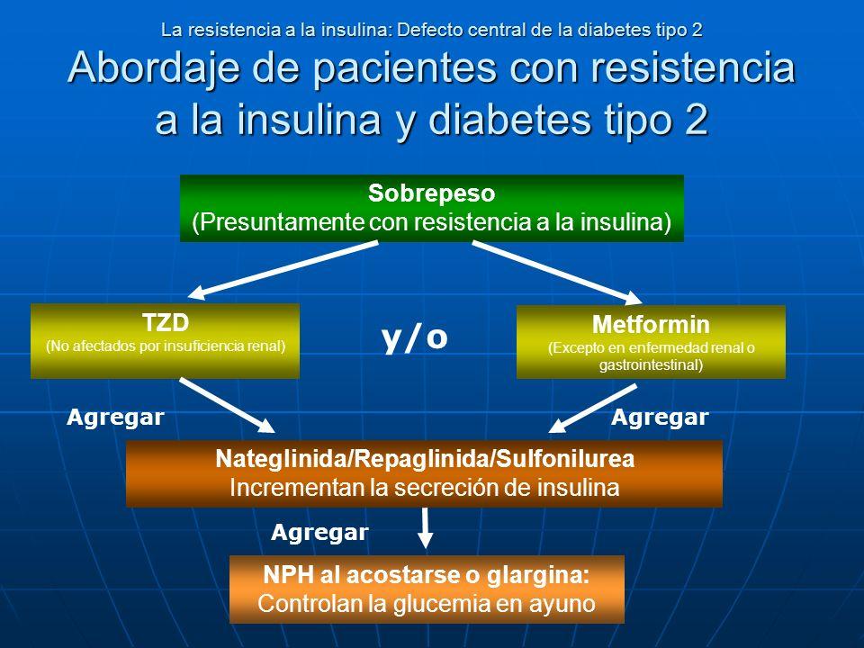 La resistencia a la insulina: Defecto central de la diabetes tipo 2 Abordaje de pacientes con resistencia a la insulina y diabetes tipo 2 Sobrepeso (P