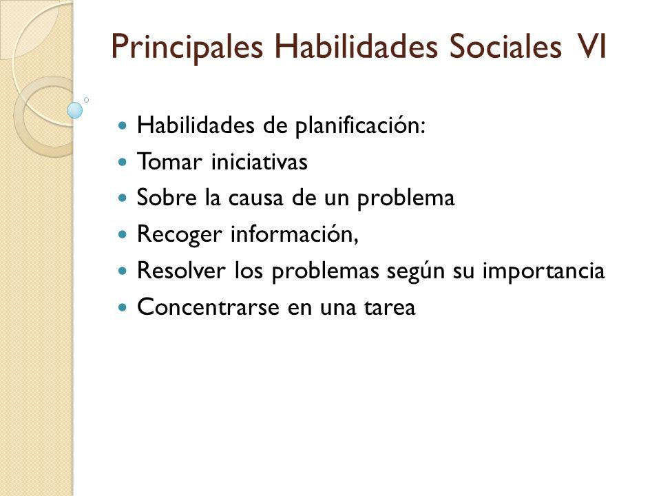 Habilidades de planificación: Tomar iniciativas Sobre la causa de un problema Recoger información, Resolver los problemas según su importancia Concent