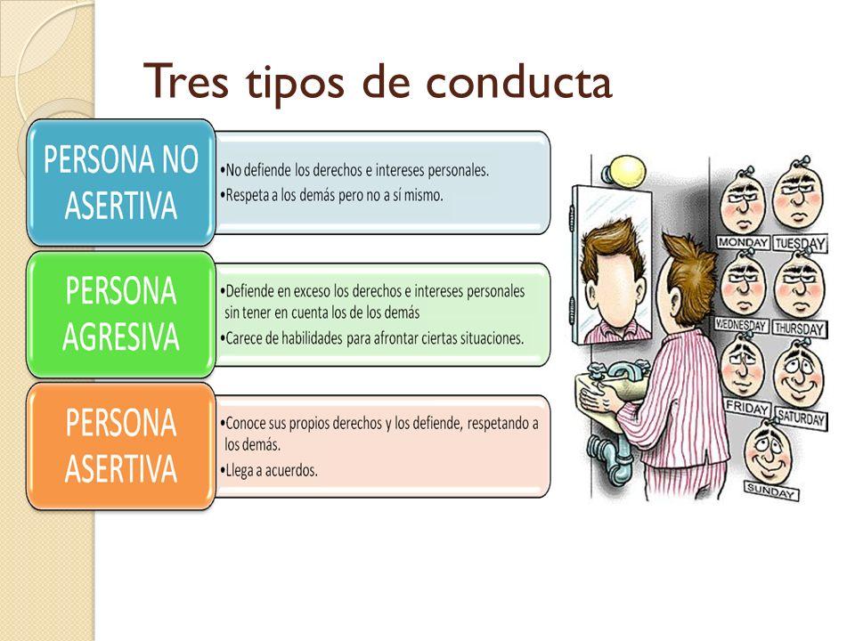 Tres tipos de conducta