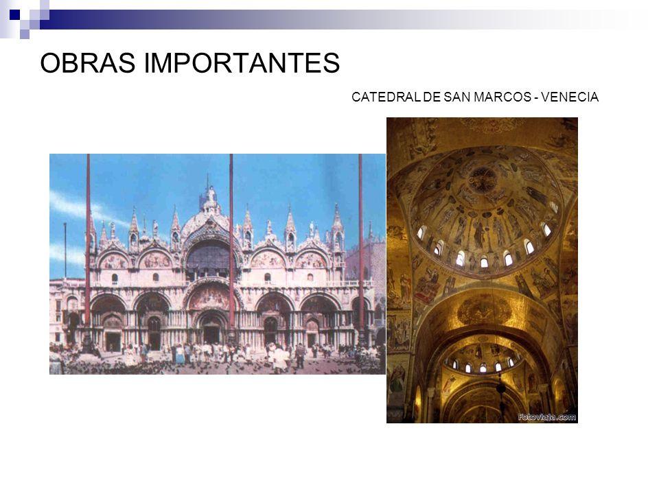 OBRAS IMPORTANTES CATEDRAL DE SAN MARCOS - VENECIA