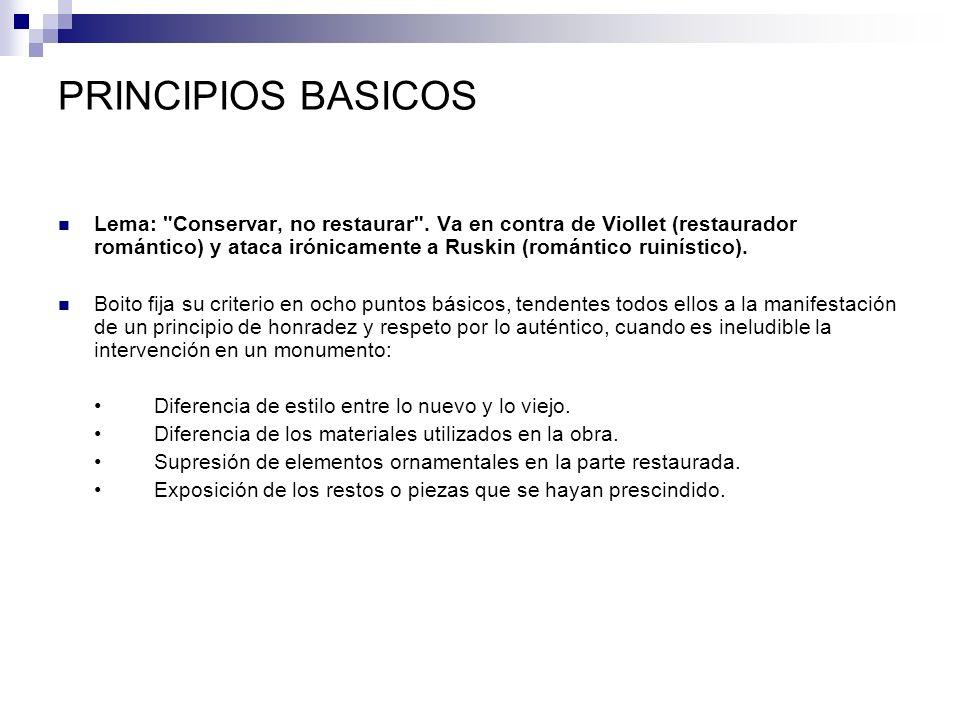PRINCIPIOS BASICOS Lema: