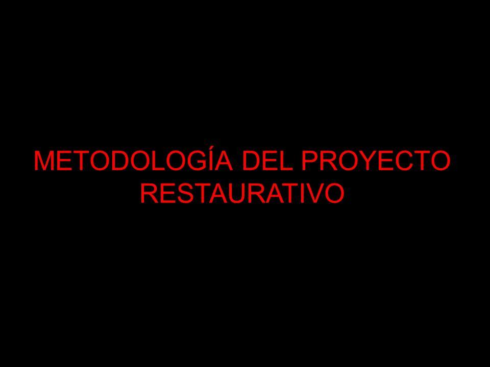 METODOLOGÍA DEL PROYECTO RESTAURATIVO