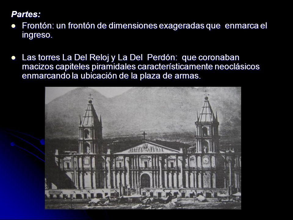 PLÁSTICA FORMAL Pilar: Pilar: Conservan los pilares coloniales en ubicación y proporción pero le agregan la forma neoclásica por lo tanto son colonial