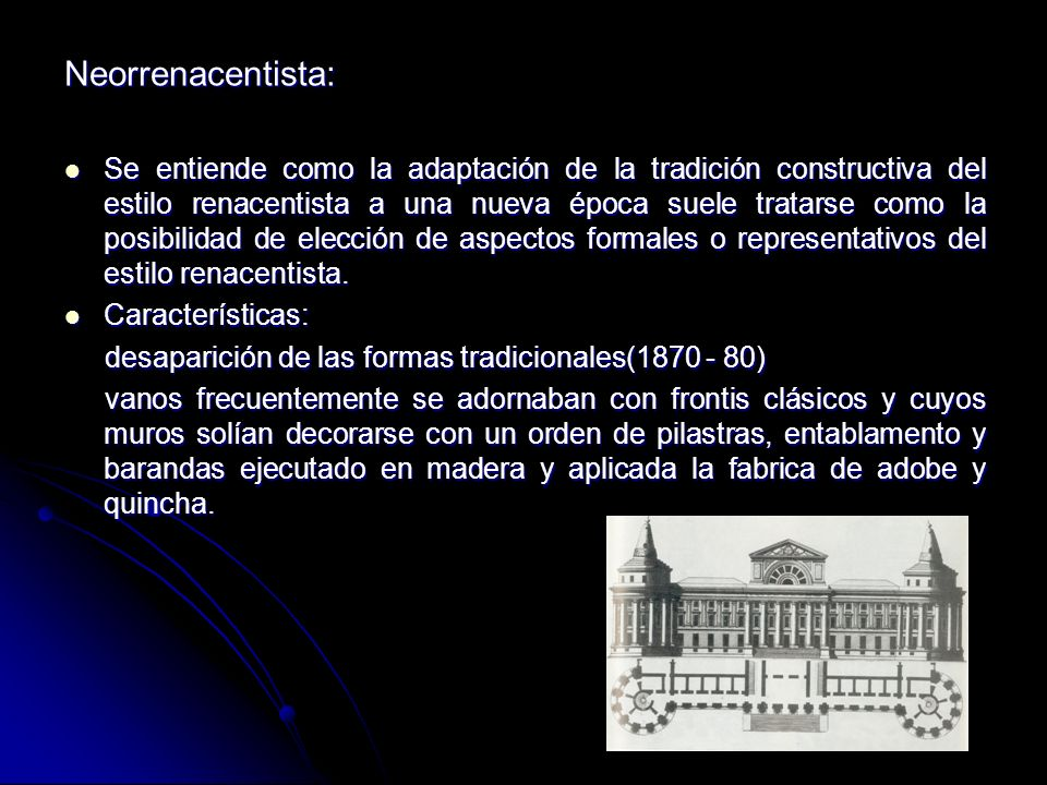 REPUBLICANeoclásico: Adopción de las formas griegas y romanas, uso de frontones, entablamento y columnas, arcos del triunfo y columnas conmemorativas