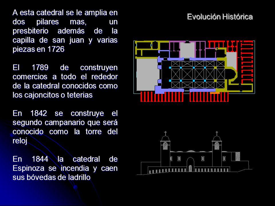 Evolución Histórica En 1621 se firna contrato entre el obispo Perea y Espinosa para la construcción de la primera catedral de arequipa La catedral de