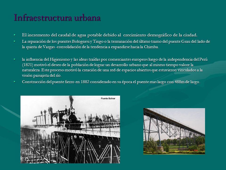 Infraestructura urbana El incremento del caudal de agua potable debido al crecimiento demográfico de la ciudad.El incremento del caudal de agua potabl