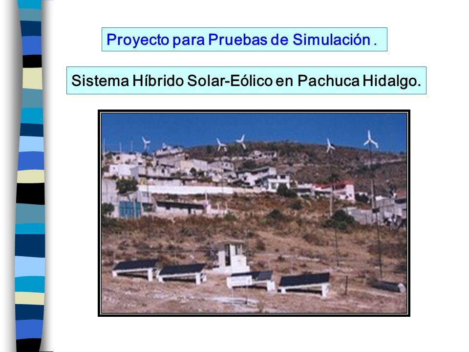 Proyecto para Pruebas de Simulación. Sistema Híbrido Solar-Eólico en Pachuca Hidalgo.