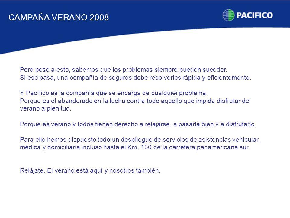 CAMPAÑA VERANO 2008 Pero pese a esto, sabemos que los problemas siempre pueden suceder.