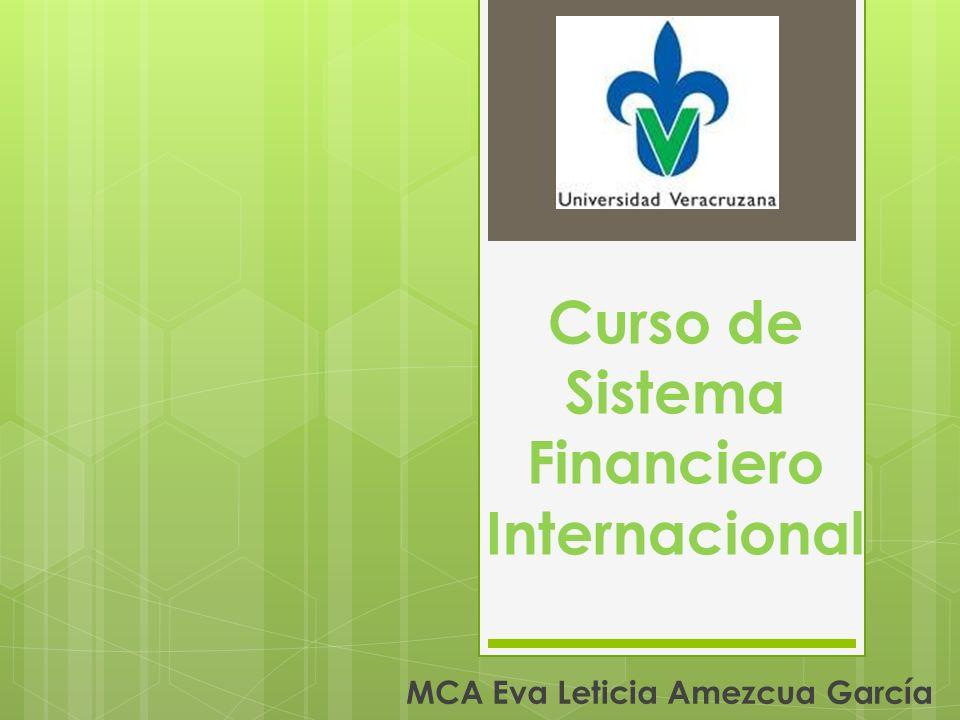 Curso de Sistema Financiero Internacional MCA Eva Leticia Amezcua García