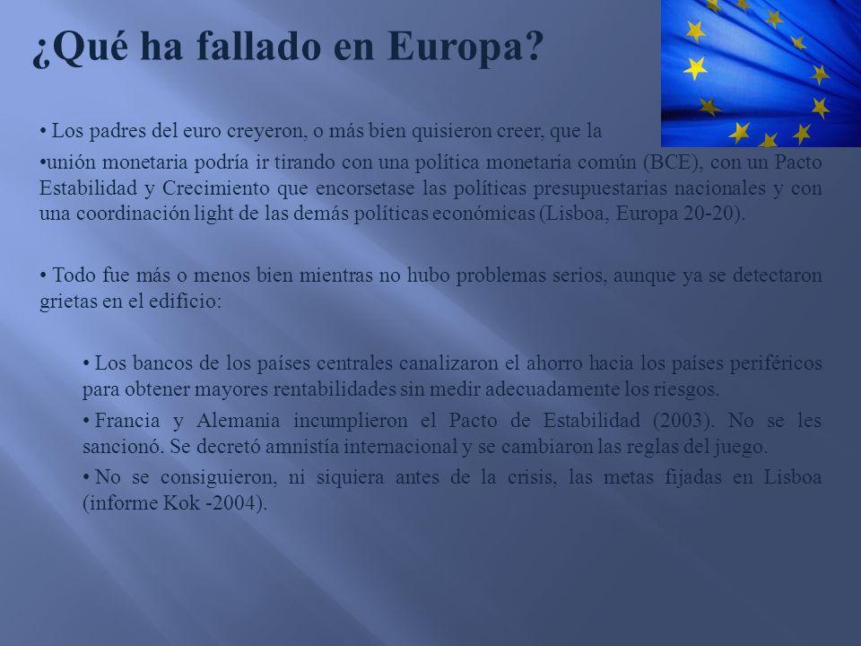 ¿Qué ha fallado en Europa.