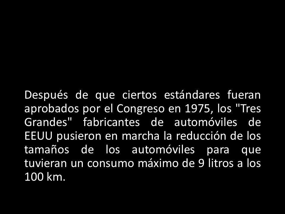 Después de que ciertos estándares fueran aprobados por el Congreso en 1975, los