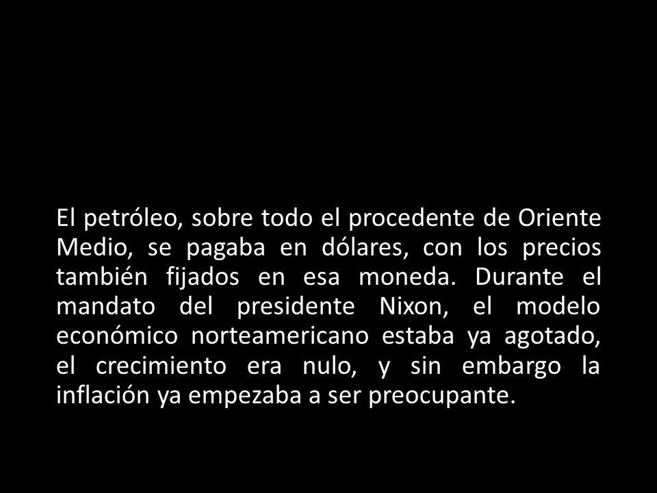 En el verano de 1971, para provocar una caída del precio del oro en los mercados internacionales, Nixon abandonó ese patrón, finalizando así el sistema de Bretton Woods, que había funcionado desde 1944.