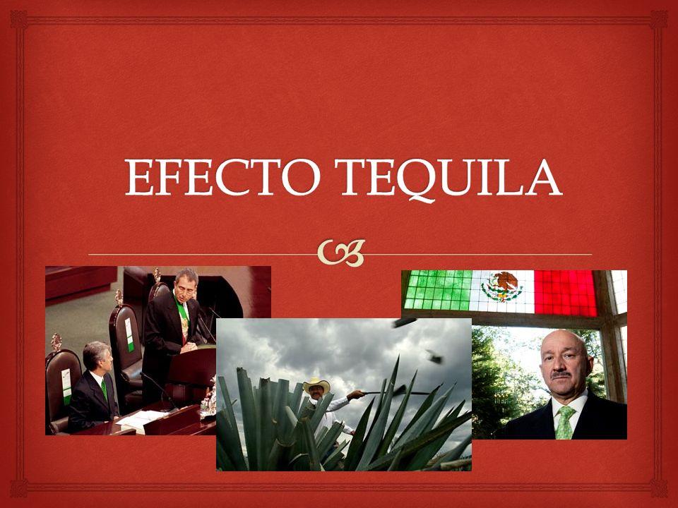 Se le denomina Efecto por todas las consecuencias que causó en muchas economías mundiales a raíz de la crisis mexicana.