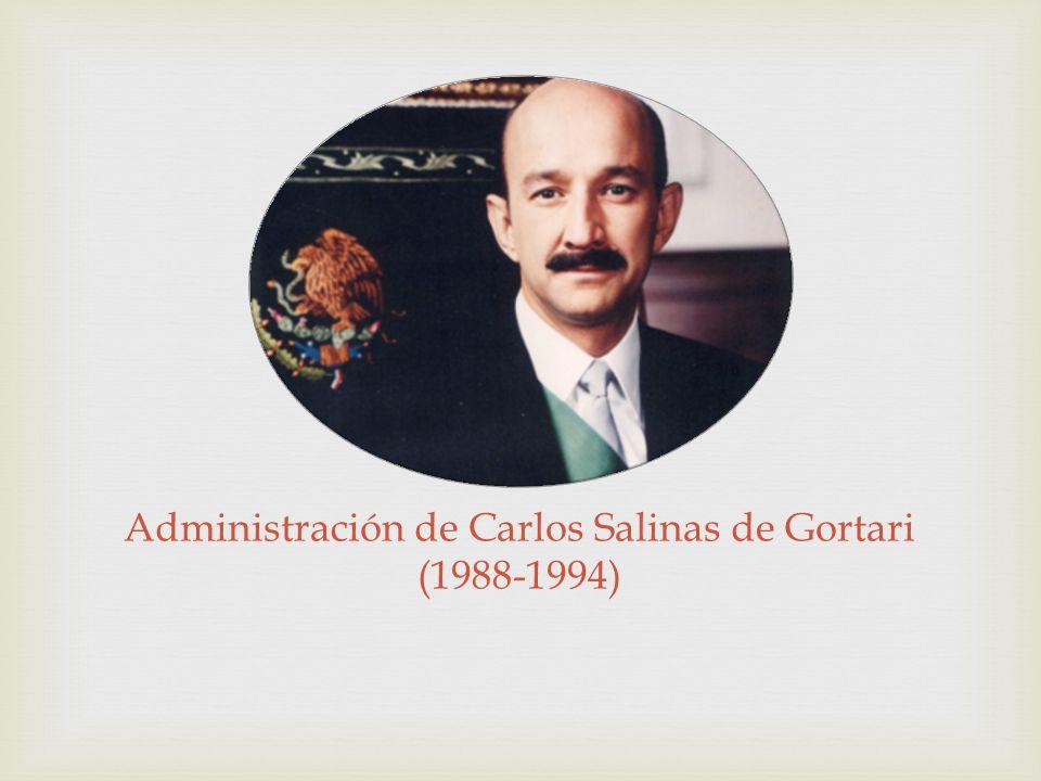 Administración de Carlos Salinas de Gortari (1988-1994)