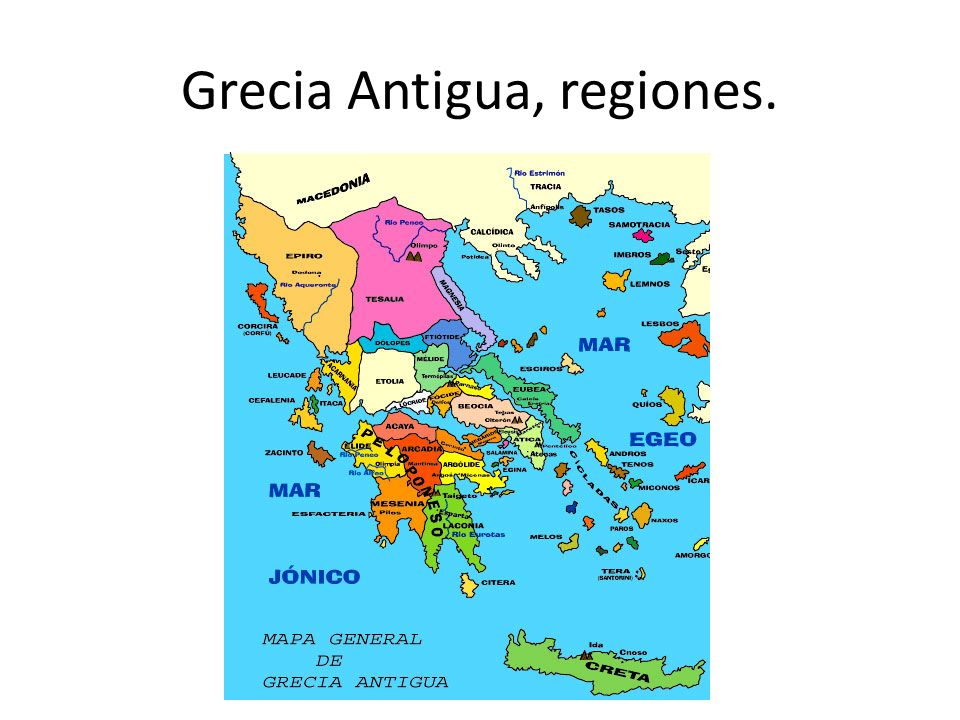 Grecia Antigua, regiones.