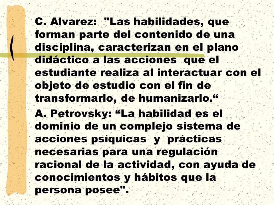 C. Alvarez: