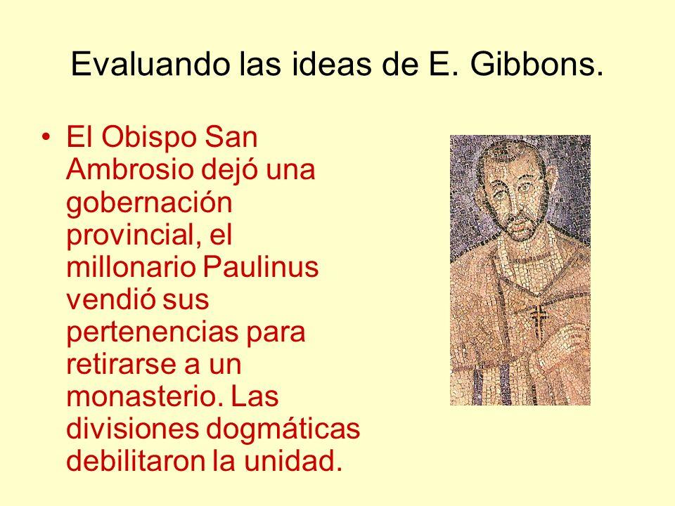 Evaluando las ideas de E.Gibbons.