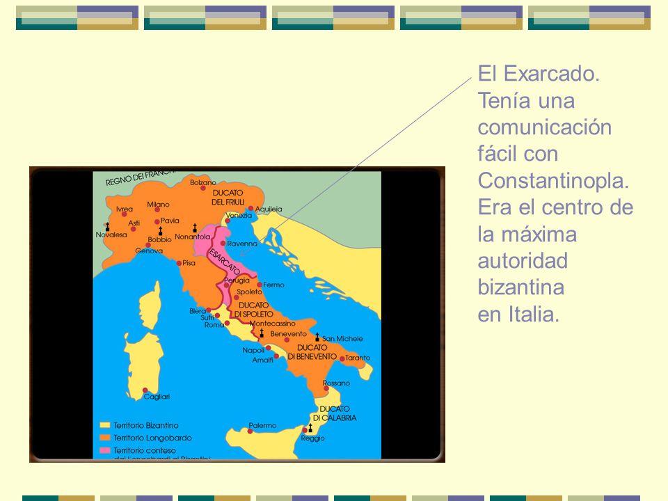 El Exarcado. Tenía una comunicación fácil con Constantinopla. Era el centro de la máxima autoridad bizantina en Italia.