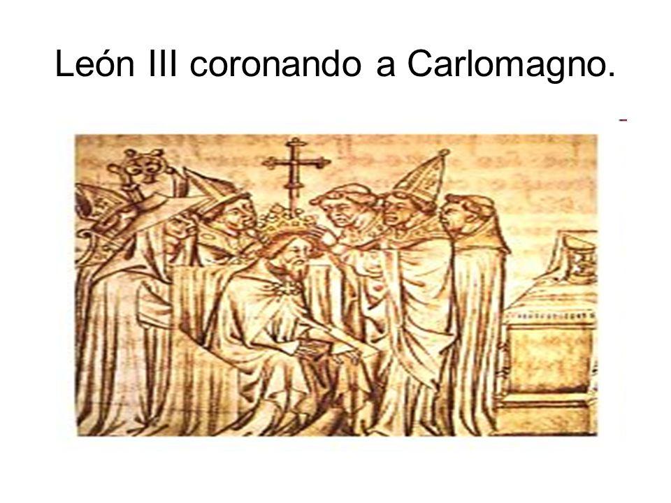 León III coronando a Carlomagno.