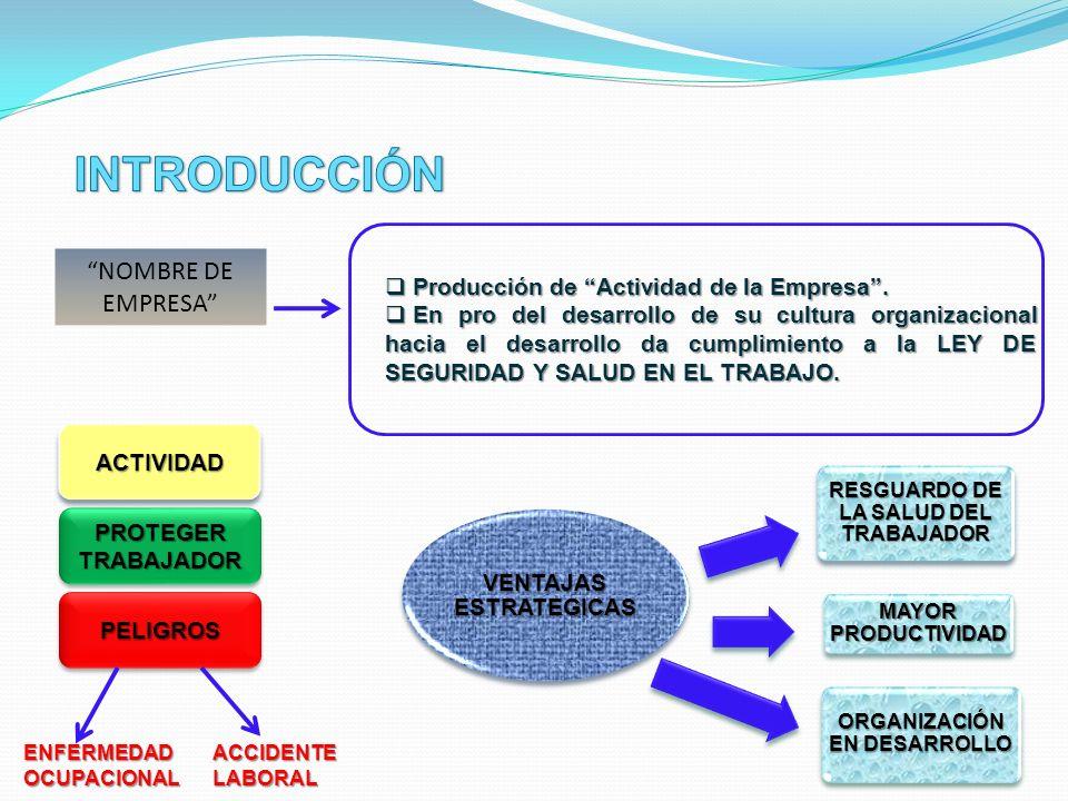 IDENTIFICACION DE CARACTERISTICAS DE LA EMPRESA.Ej: Reciente creación de la empresa.