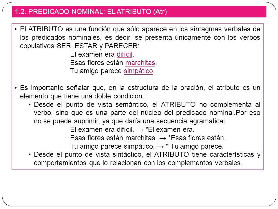 CÓMO IDENTIFICAR EL CD El verbo del predicado NO puede ser copulativo.
